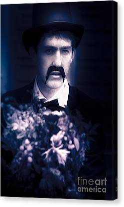 Vintage Man With Flowers Canvas Print by Jorgo Photography - Wall Art Gallery