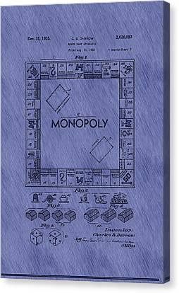 Vintage Monopoly Game Patent Canvas Print by Mountain Dreams