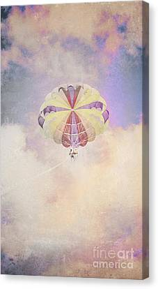 Vintage Parachute In Clouds Canvas Print by Jorgo Photography - Wall Art Gallery