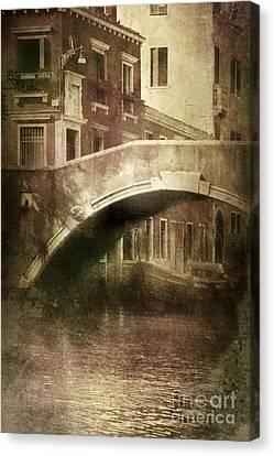 Vintage Shot Of Venetian Canal, Venice Canvas Print by Evgeny Kuklev