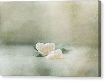 Vintage Tangerine Canvas Print by Delphine Devos