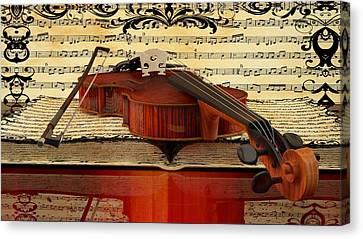 Violin  Canvas Print by Louis Ferreira