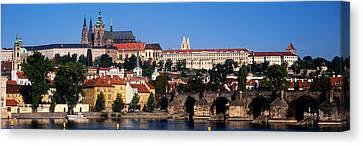 Vltava River, Prague, Czech Republic Canvas Print by Panoramic Images