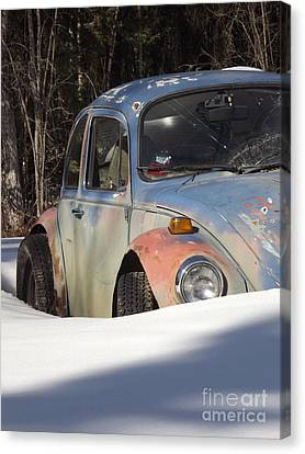 Volkswagen Beetle Canvas Print by Jennifer Kimberly
