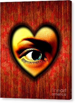 Voyeurism, Conceptual Artwork Canvas Print by Stephen Wood
