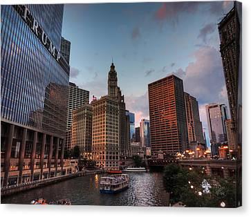 Wacker - Michigan Historic District Of Chicago 002 Canvas Print by Lance Vaughn