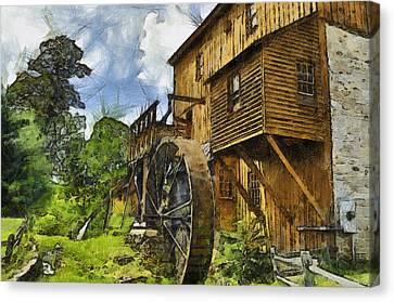 Wade's Mill Canvas Print by Kathy Jennings