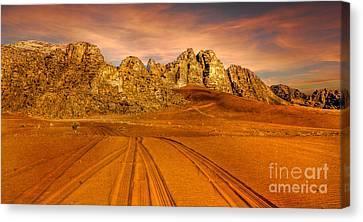 Wadi Rum Jordan Canvas Print by Dan Yeger