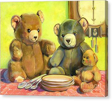Waiting For Goldilocks Canvas Print by Joose Hadley