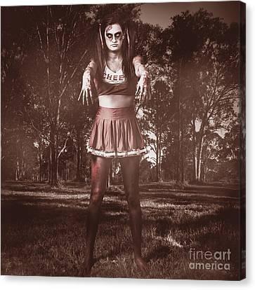 Walking Dead Schoolgirl Stumbling Back To School Canvas Print by Jorgo Photography - Wall Art Gallery