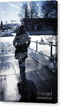 Walking Canvas Print by HD Connelly
