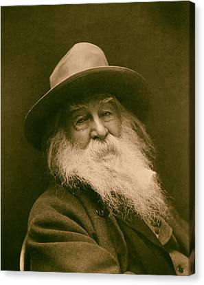 Walt Whitman 1886 Canvas Print by Mountain Dreams