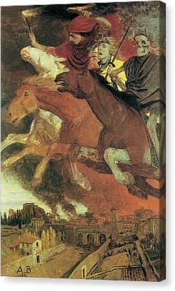 War Canvas Print by Arnold Bocklin