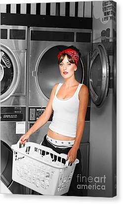 Washing Clothes At Laundry Canvas Print by Jorgo Photography - Wall Art Gallery