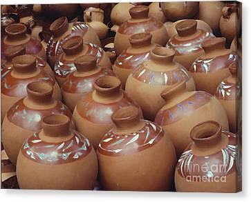 Water Pots Canvas Print by Sue Sill