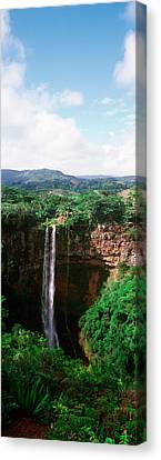 Waterfall, Chamarel Waterfall Canvas Print by Panoramic Images