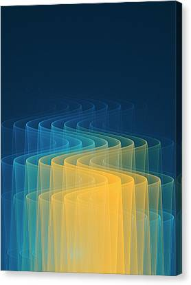 Wave Function Conceptual Artwork Canvas Print by David Parker