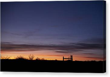 West Texas Sunset Canvas Print by Melany Sarafis