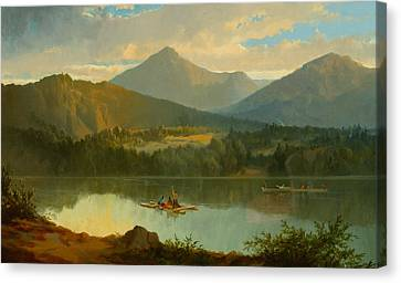 Western Landscape Canvas Print by John Mix Stanley