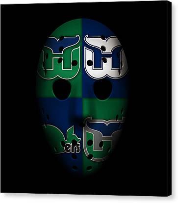 Whalers Goalie Mask Canvas Print by Joe Hamilton