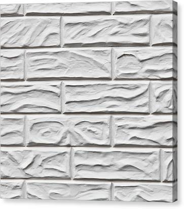 White Brick Wall Canvas Print by Tom Gowanlock