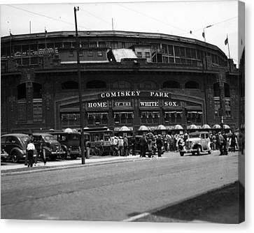 White Sox Home Comiskey Park Canvas Print by Retro Images Archive