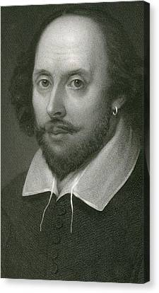William Shakespeare Canvas Print by English School