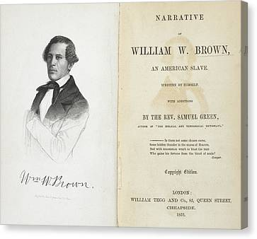 William W. Brown Canvas Print by British Library