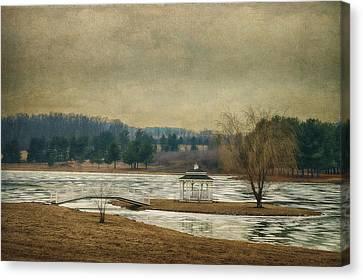 Willow Lake  Canvas Print by Kathy Jennings