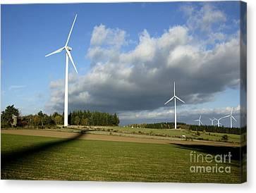 Windturbines Canvas Print by Bernard Jaubert