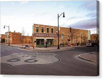 Winslow, Arizona, United States Canvas Print by Julien Mcroberts