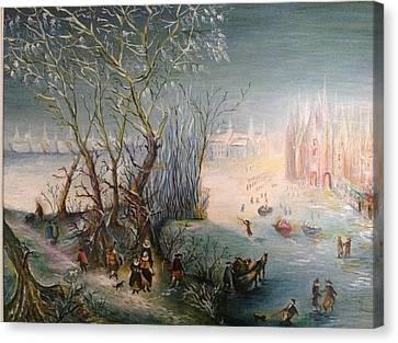 Winter Scene Canvas Print by Egidio Graziani