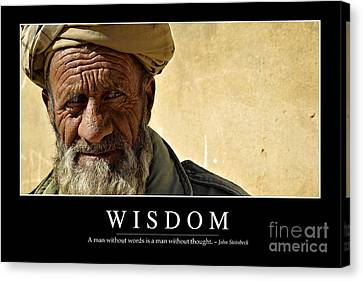 Wisdom Inspirational Quote Canvas Print by Stocktrek Images