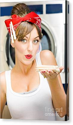 Woman Doing Washing Canvas Print by Jorgo Photography - Wall Art Gallery