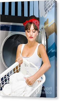 Woman Washing Clothes Canvas Print by Jorgo Photography - Wall Art Gallery