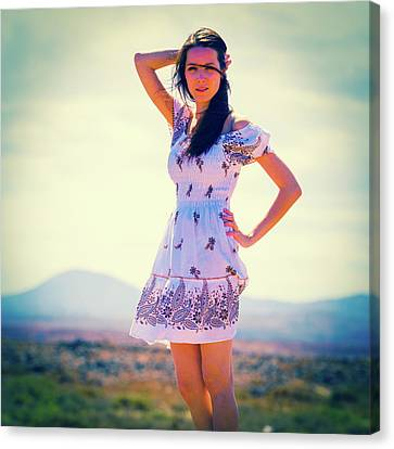 Woman Wearing Summer Dress Canvas Print by Wladimir Bulgar