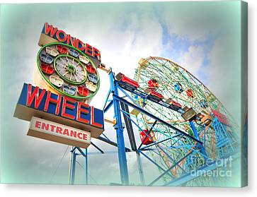Wonder Wheel Canvas Print by Mark Gilman