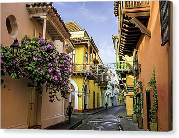 Wonderful Spanish Colonial Architecture Canvas Print by Jerry Ginsberg