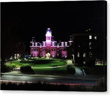Woodburn Hall At Night Canvas Print by Cityscape Photography