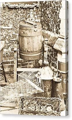 Wooden Barrel Canvas Print by Tom Gowanlock