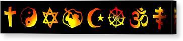 World Religion Symbols Canvas Print by Daniel Hagerman