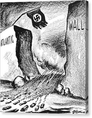 World War II: D-day, 1944 Canvas Print by Granger