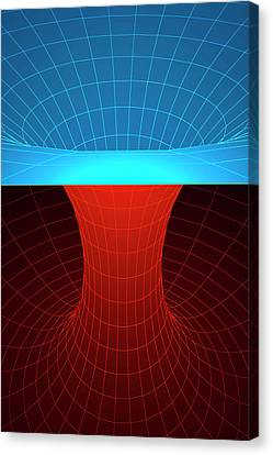 Wormhole Canvas Print by Ktsdesign