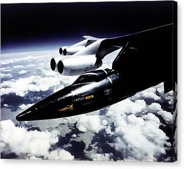 X-15 Aircraft On A Boeing B-52 Canvas Print by Nasa