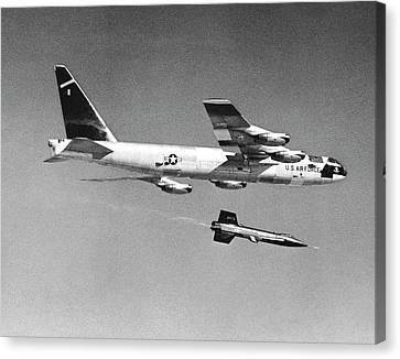 X-15 Launch From A Boeing B-52 Canvas Print by Nasa
