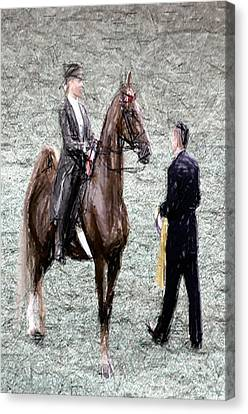 Xivg - World Championship Horse Show - Louisville Ky Canvas Print by Thia Stover