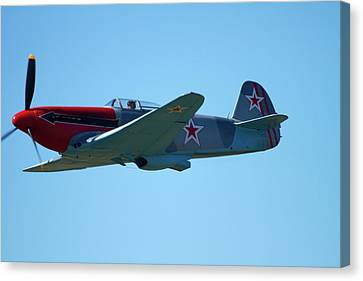 Yakovlev Yak-3 - Wwii Russian Fighter Canvas Print by David Wall