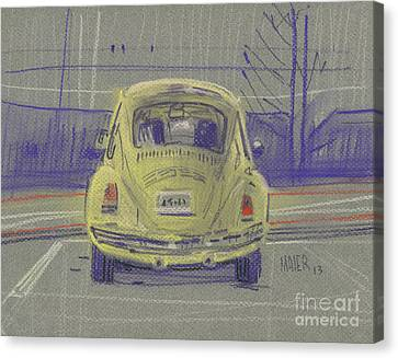 Yellow Beetle Canvas Print by Donald Maier