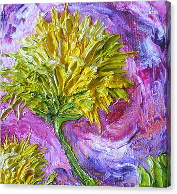 Yellow Mum Canvas Print by Paris Wyatt Llanso