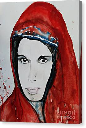 Young Woman From India - Painting Canvas Print by Ismeta Gruenwald